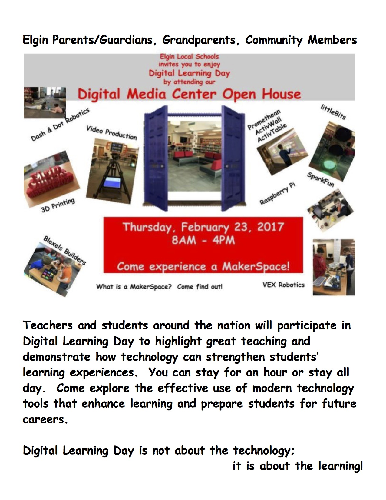 Digital Media Center Open House - National Digital Day