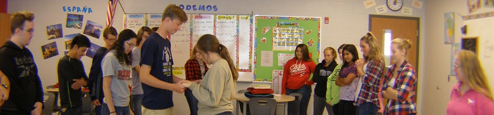 Dancing in Spanish.  Photo credit:  Jenna
