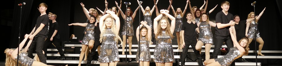 Show Choir at Cabaret.....Photo Credit: Mrs. Hafer