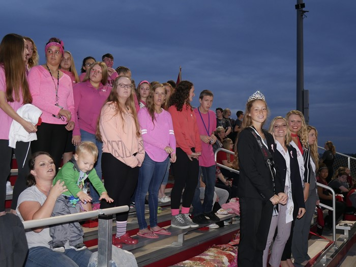 Student section and Homecoming Court