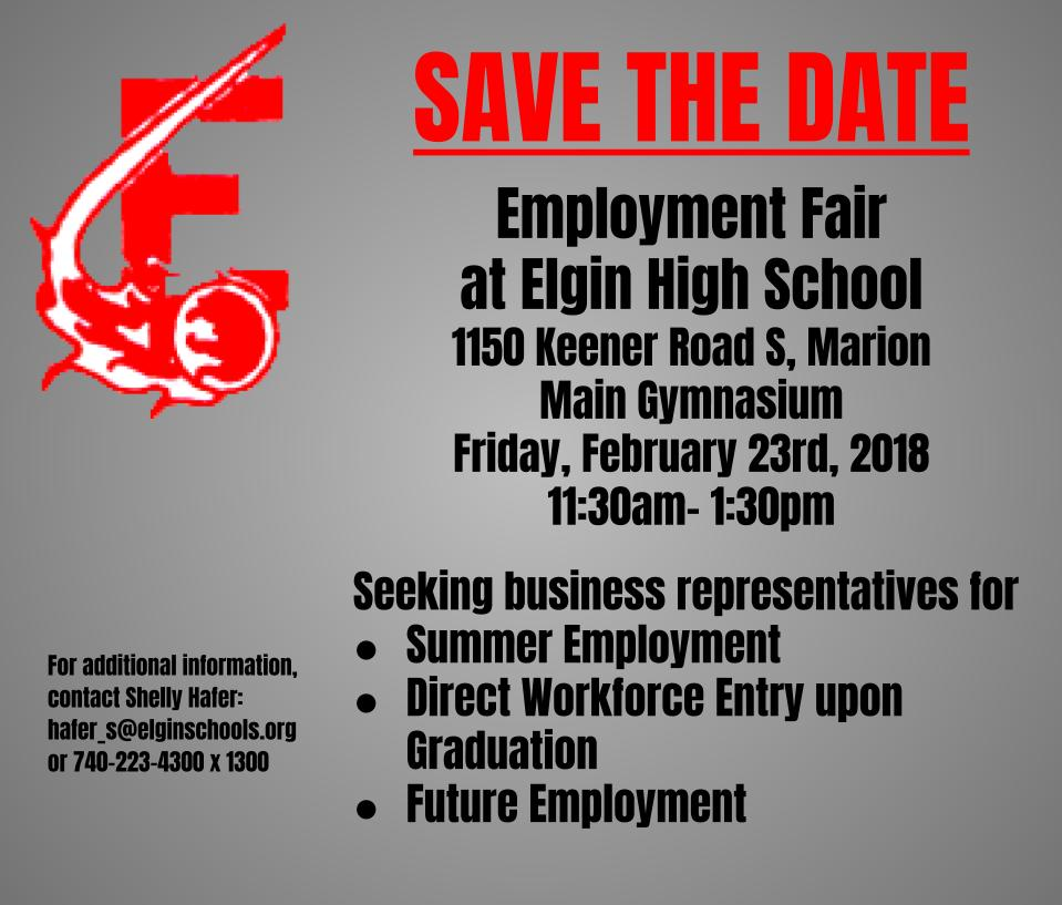 save the date job fair